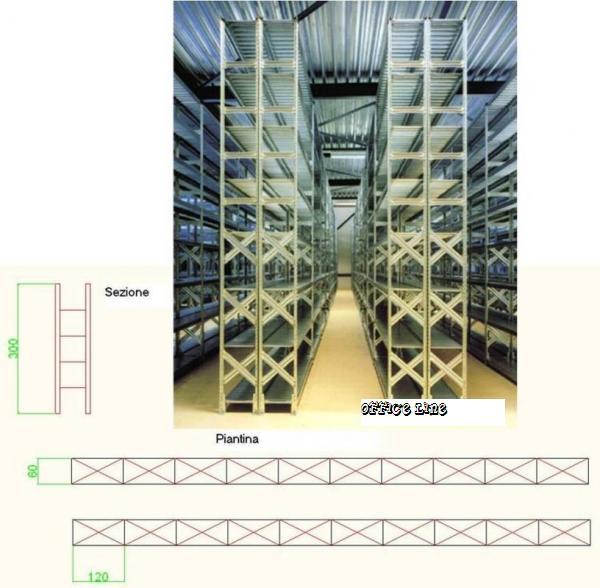 Composizione completa 2 campate da 12 mt cadauna 24mt for Poli arredamenti