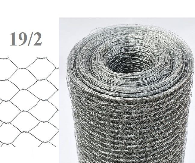 50mt rotolo rete metallica zincata tripla torsione maglia for Poli arredamenti