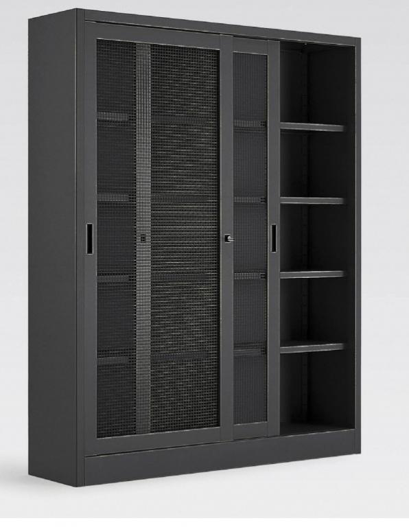 Armadio metallico con porte a reti metalliche 180x45x200h for Poli arredamenti