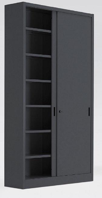 Armadio metallico con porte in lamiera scorrevoli 5 10 for Poli arredamenti