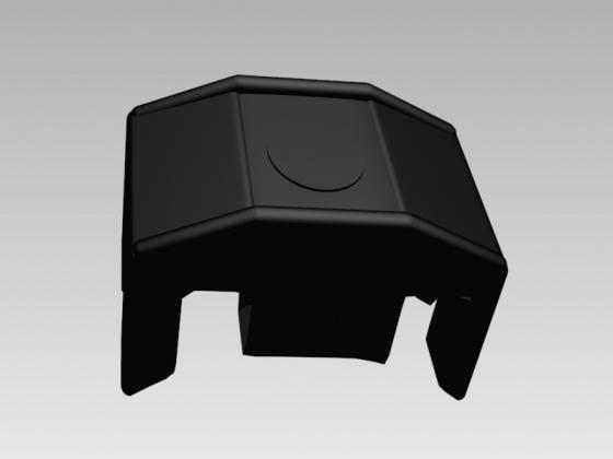 Piastrina palo tondo in pvc nera vite autoperforante for Poli arredamenti