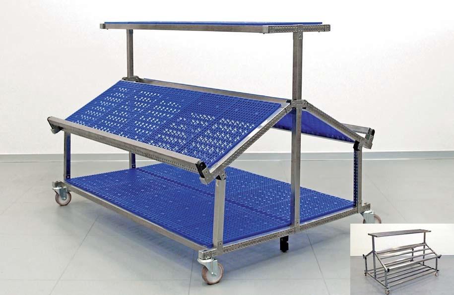 Bancarella mobile e piani in inox l 1500 mm for Poli arredamenti