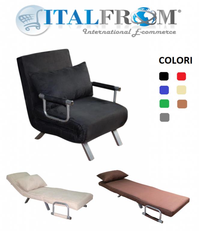 Divano letto sof bed vari colori divani 67x69x83h for Poli arredamenti
