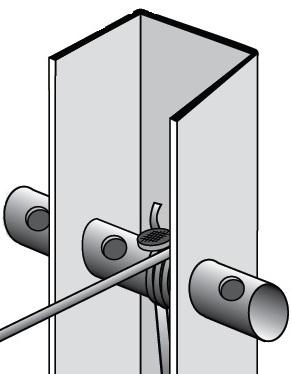 Accessorio verricello tendifilo zincato per palo di for Poli arredamenti