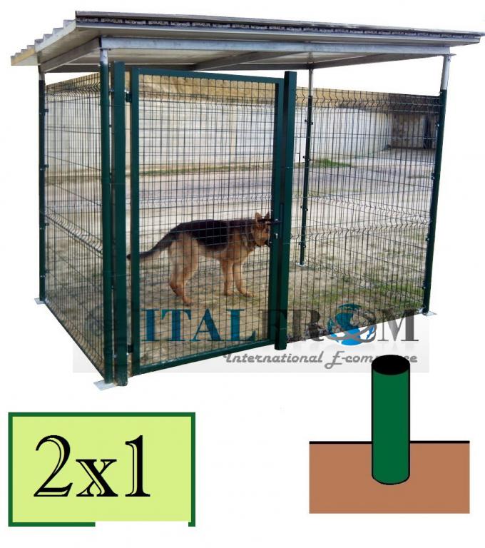 Box recinto modulare per cani in ferro zincato for Recinto per cani in legno