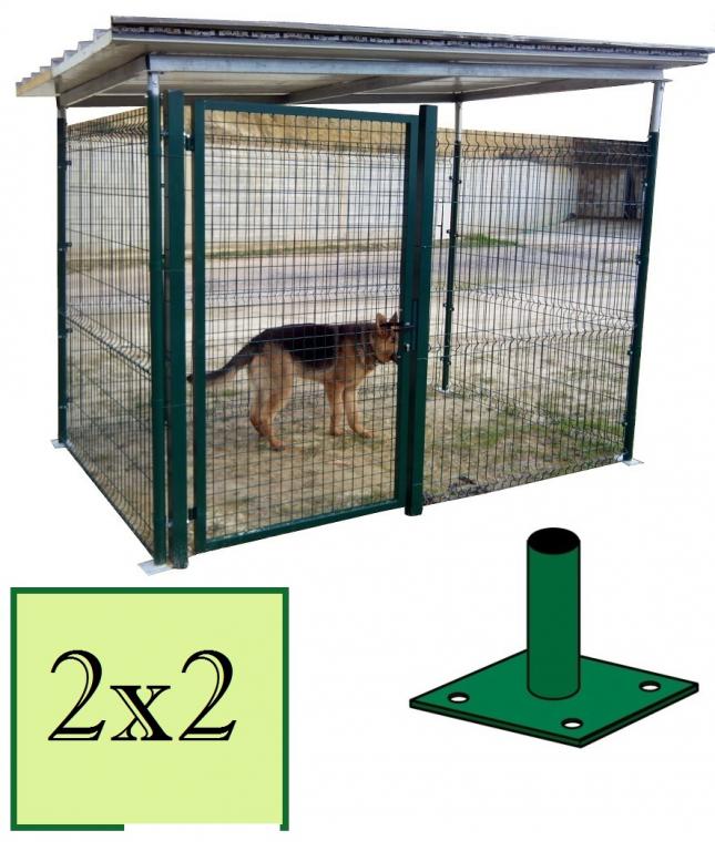 Box recinto modulare per cani in ferro zincato for Box cani prefabbricati prezzi