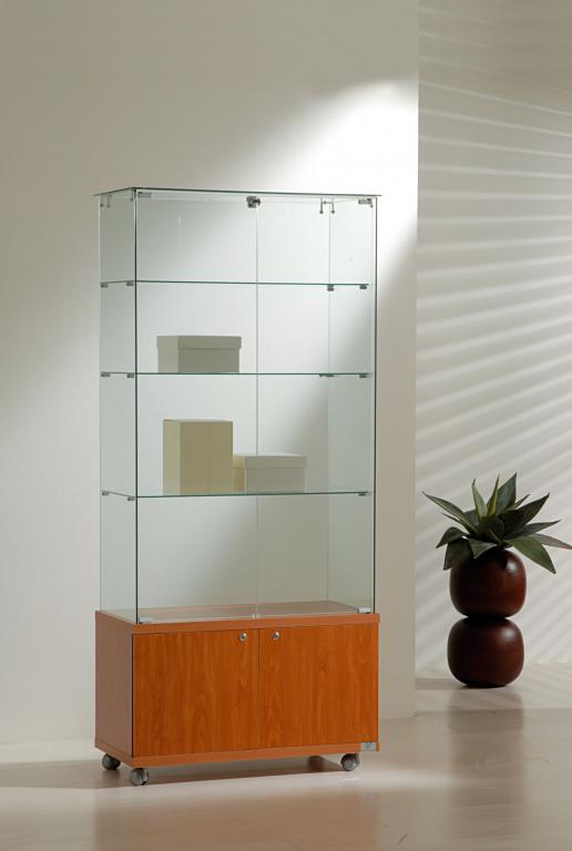Vetrina con mobile cristalli temperati 80x40xh180 cm for Poli arredamenti