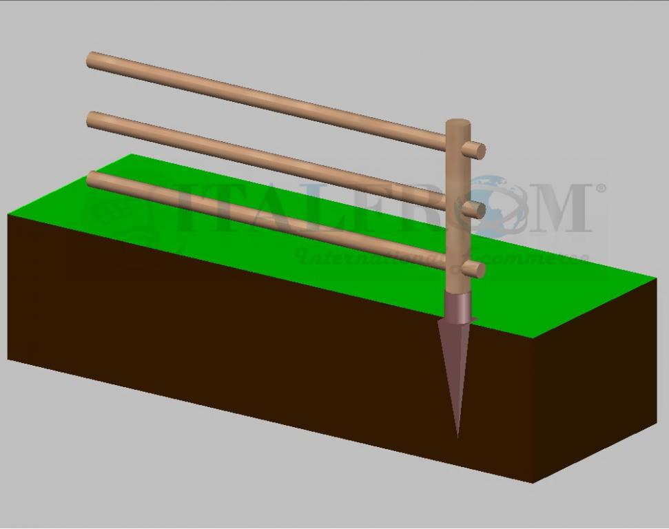 Staccionata steccato in legno di pino con 3 fori(misure: l 150cm x ...
