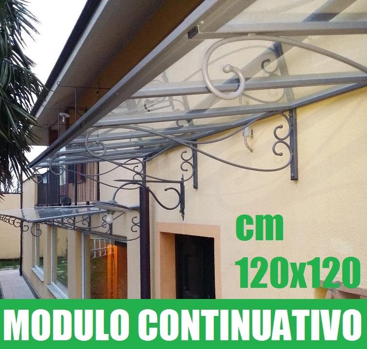 Pensilina tettoia modulare in ferro battuto linea for Poli arredamenti