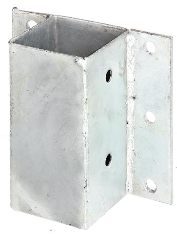 Staffa supporto zincato a tassellare per palo in legno 71 for Poli arredamenti