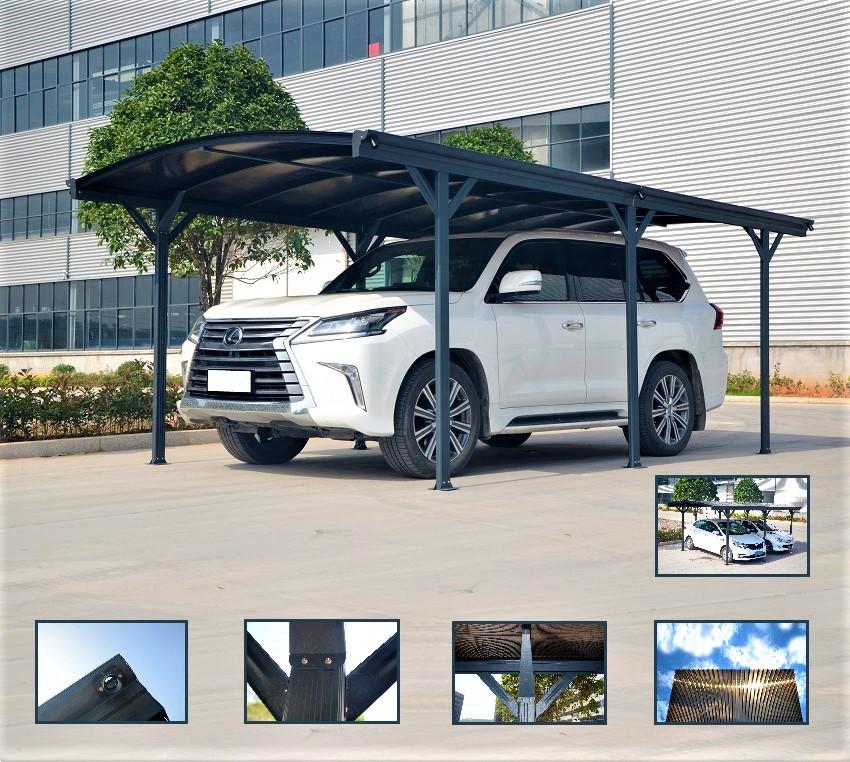 Carport tettoia per automobili in alluminio cm 505x300cm for Poli arredamenti