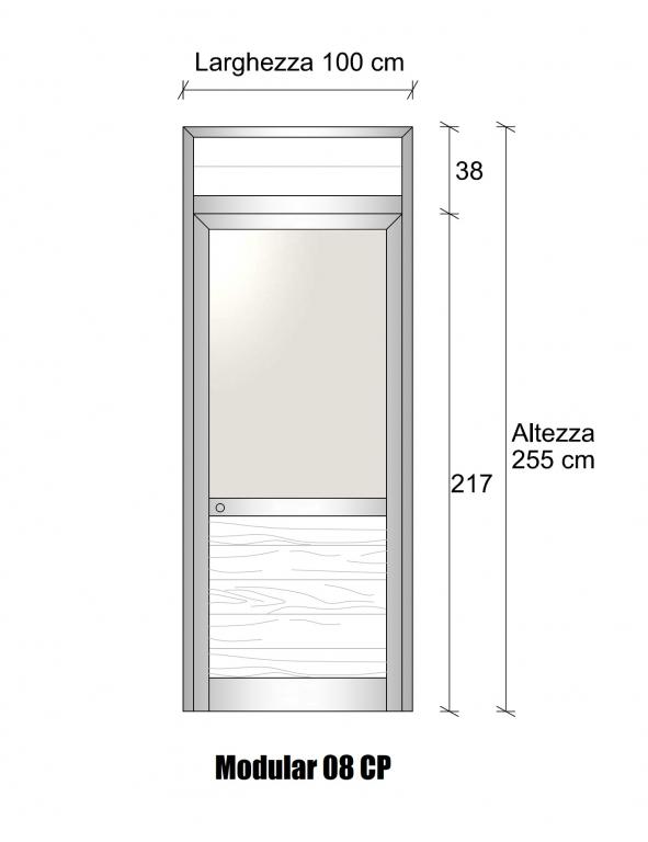Modulo parete divisoria in alluminio vetro opale e perline for Poli arredamenti
