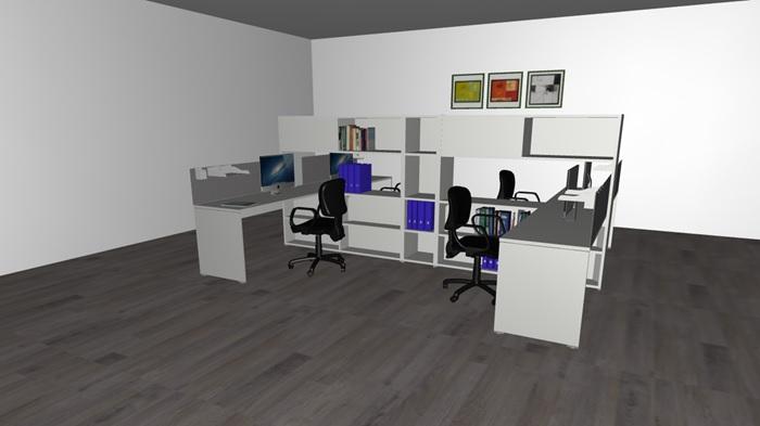 Composizione mobili da ufficio ufficio4 serie ixo italfrom for Poli arredamenti