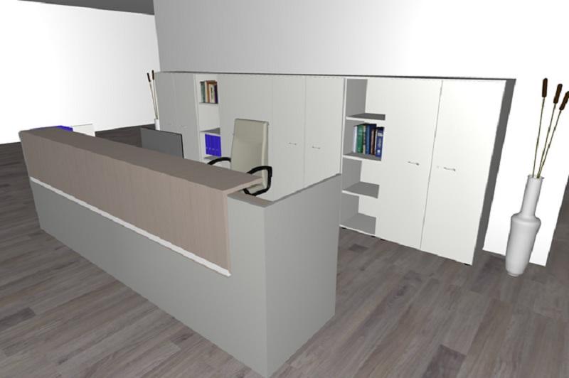 Composizione mobili da reception reception9 serie for Poli arredamenti