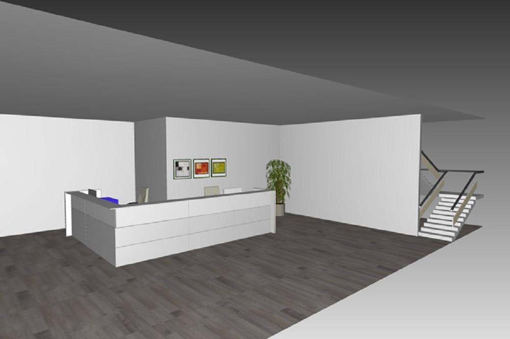 Composizione mobili da reception reception5 serie for Poli arredamenti