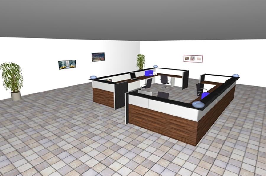 Composizione mobili da reception reception8 serie for Poli arredamenti