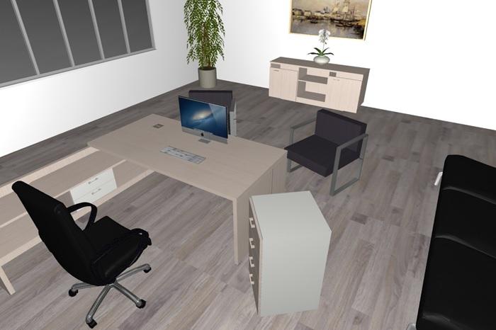Composizione mobili da ufficio ufficio13 serie beta for Poli arredamenti