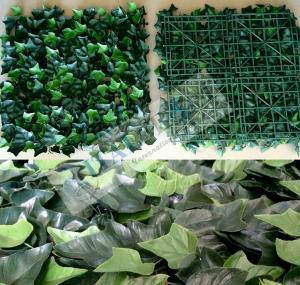 Edera Plastica Per Recinzioni.Siepe Finta Artificiale Formato Piastrella Cm 50x50 Con Foglie Di
