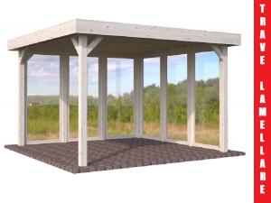 Gazebo da giardino in legno d 39 abete nordico cm 350x350cm for Abete da giardino