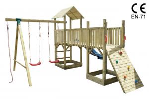 Altalena Con Scivolo E Giochi Da Giardino Per Bambini In