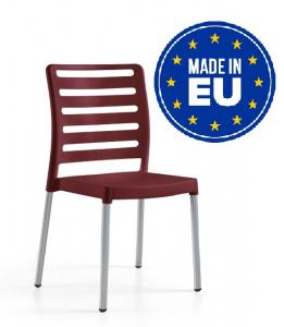 Sedie In Polipropilene Da Giardino.Set 4 Sedie Diva Con Gambe In Alluminio Design Da Giardino Cucina