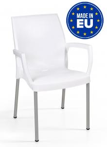 Sedie In Polipropilene Da Giardino.Et 4 Sedie Jade Con Gambe In Alluminio E Braccioli Design Da