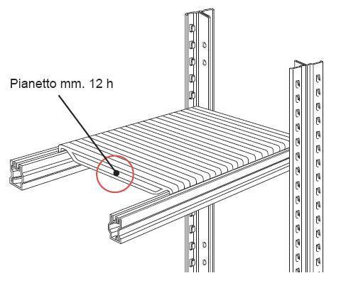 Ripiano completo lunghezza 120 x Profondità 40 cm per scaffalature metalliche industriali ...