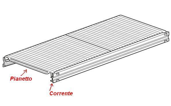 Ripiano completo lunghezza 120 x Profondità 30 cm per scaffalature metalliche industriali ...