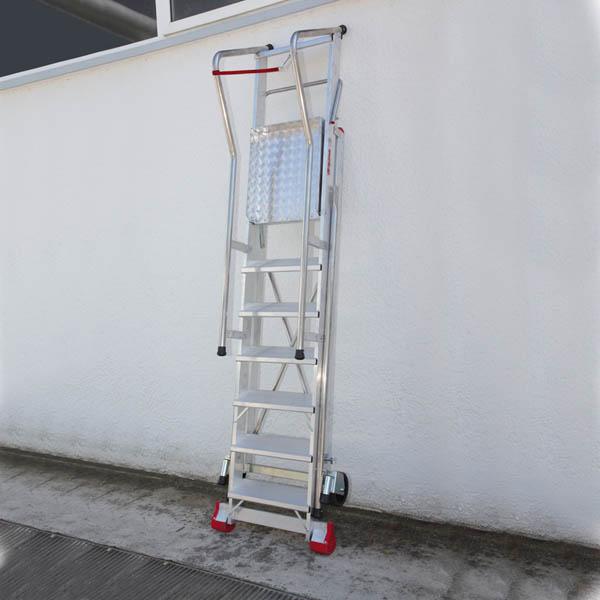 250 smt scala professionale da magazzino altezza for Escalera de 5 metros