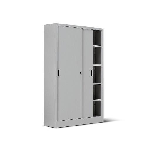 Armadio metallico con porta in lamiera 4 8 ripiani 120x60x200h for Armadio con ripiani