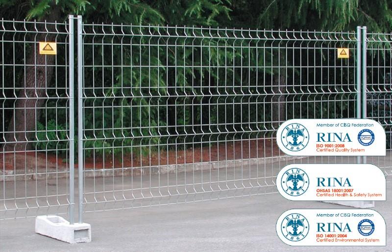 56 pz pannelli recinzione mobile temporanea per cantiere for Recinzione per cani da esterno