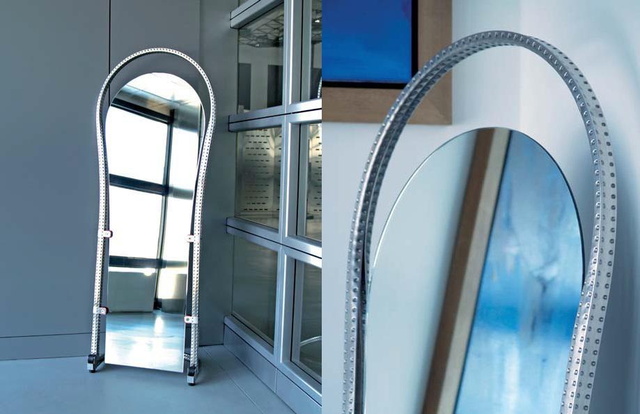 Specchio sagomato con base in acciaio inox - Lucidatura acciaio inox a specchio ...