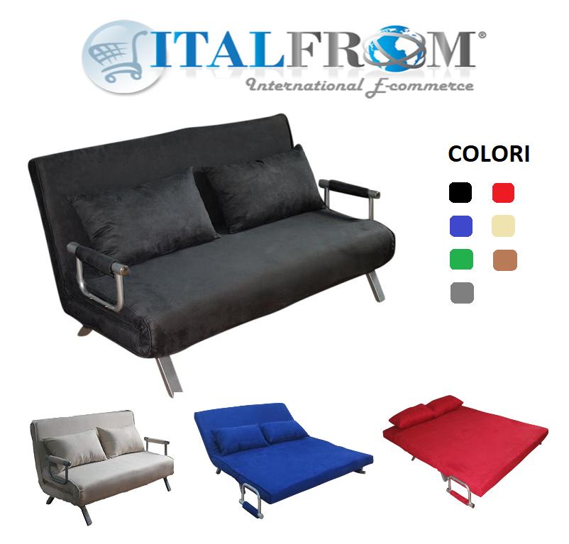 Divano letto sof bed vari colori divani 155x69x83h divanetti divano letto 2 piazze - Miglior divano letto ...