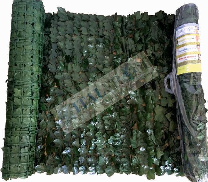 Arelle aritificiali per recinzione vendita online arelle for Rete con foglie finte