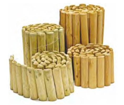 Bordura in rotolo per aiuole giardino in legno di pino for Aiuole in legno