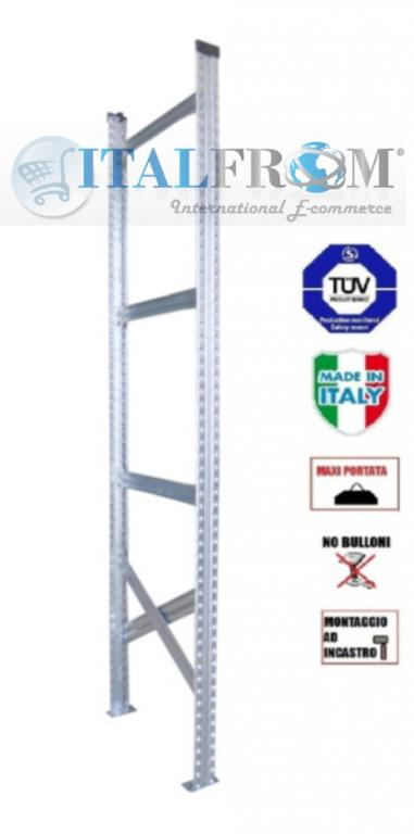 Spalla per scaffalature metalliche completa di diagonali , distanziali e basi Alta 200 cm Prof ...