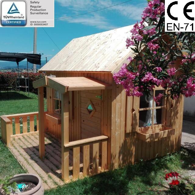 Casetta da giardino per bambini in legno d 39 abete nordico for Casetta da giardino per bambini usata