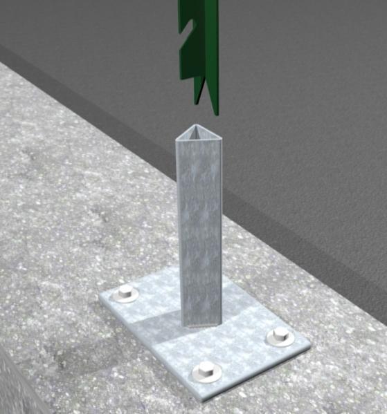 Supporto zincato per fissaggio a terra per palo a t for Prezzo del ferro vecchio al kg