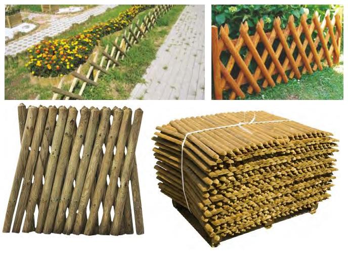 Steccato Estensibile Giardino : Steccato in legno di pino estensibile dimensioni l cm h