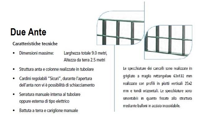 Dimensioni Cancello A Due Ante.Cancello Due Ante In Grigliato Classic Zincato A Caldo Misura Cm