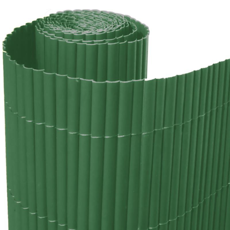 Recinzioni Per Giardino In Pvc.Arella Incannucciata In Pvc Singola Colore Verde Dimensione H