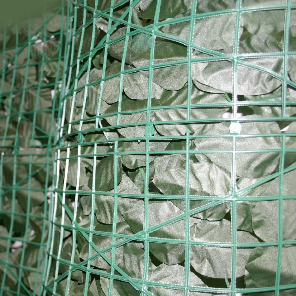 Siepe finta artificiale a rotolo foglie di edera for Rete con foglie finte