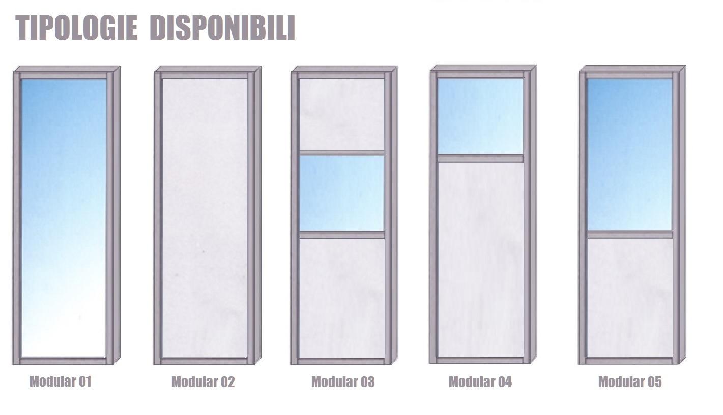Costruire Una Parete In Vetrocemento modulo parete divisoria in alluminio e vetro trasparente