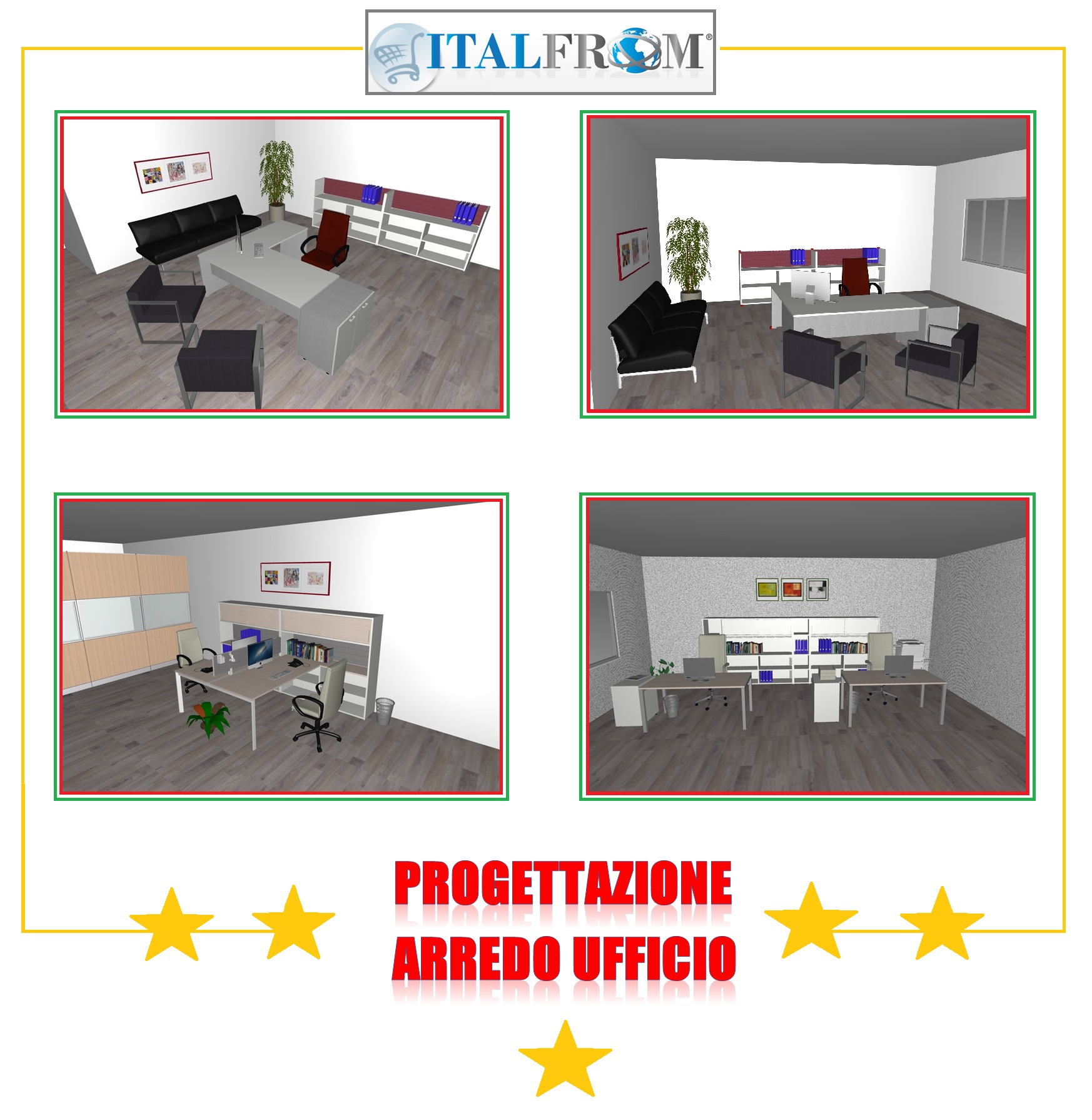 Mobili per ufficio italfrom preventivi e progettazioni for Quadrifoglio arredo ufficio