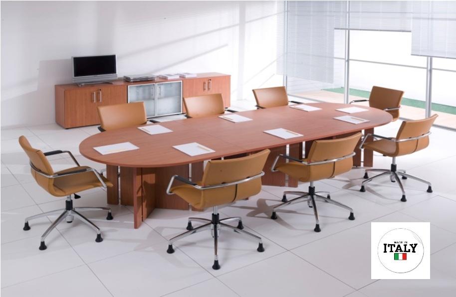 Tavolo riunione ovale - 8 posti - varie finiture