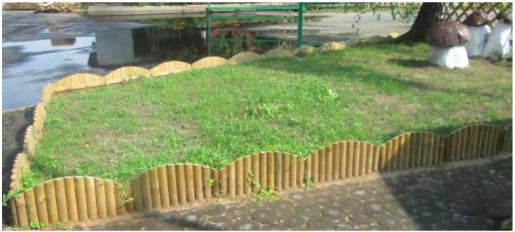 Bordura steccato vampiro per aiuole giardino in legno di for Bordura giardino