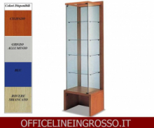 VETRINA IN CRISTALLO TEMPERATO(H.218) CON SCHENALE  TRASPARENTE dimensioni(64X46X h218)SERIE GLASS  MADE IN ITALY