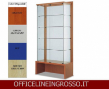 VETRINA IN CRISTALLO TEMPERATO(H.218) CON SCHENALE  TRASPARENTE dimensioni(100X46X h218)SERIE GLASS  MADE IN ITALY