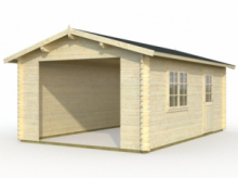 Garage in Legno d' Abete Nordico(44mm) - cm 380X570cm - ITALFROM19