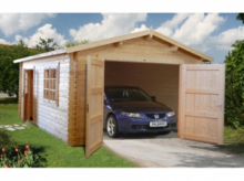Garage in Legno d' Abete Nordico(44mm) - cm 380X570cm - ITALFROM20
